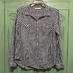 Old Navy Checkered Button Up Shirt | Large